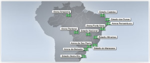 Brazil 2014 World Cup Stadiums